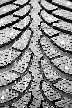 Winter Rubber Wheels With Torns Stock Image - Image: 14159181