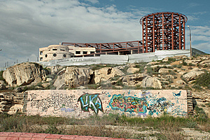 The Unfinished Building. Stock Image - Image: 14161331