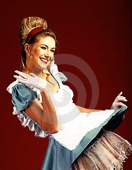 Joyful Studio  Woman's Portrait Royalty Free Stock Photo - Image: 14162525