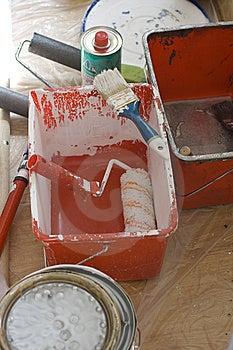 Tools For Whitewash Stock Photography - Image: 14163492