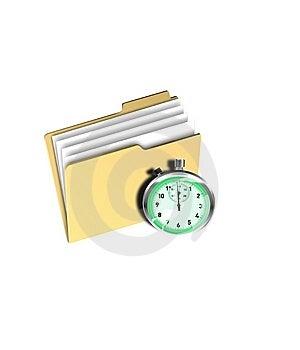Folder Timer Royalty Free Stock Image - Image: 14165626
