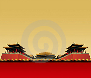 Chinese Red Wall Royalty Free Stock Photos - Image: 14166268