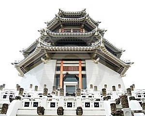 Pagoda. Traditional Chinese Temple Stock Image - Image: 14166491