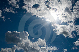 Blue Sky With White Cumulus Stock Photos - Image: 14166733