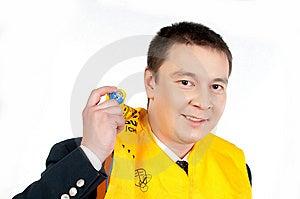 Steward In Life Jacket Stock Images - Image: 14166734