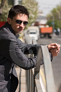 Young Adult European Man In Black Sunglasses Royalty Free Stock Image - Image: 14167616