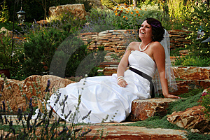 Laughing Bride Royalty Free Stock Photo - Image: 14167725