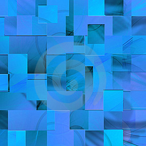 Blue Background Of The Rectangles Royalty Free Stock Photography - Image: 14168187