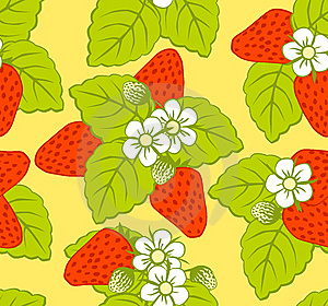 Pattern With Strawberries Royalty Free Stock Photography - Image: 14169277