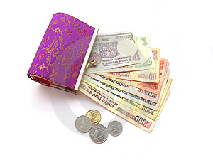 Indian Money And Purse Royalty Free Stock Image - Image: 14170356
