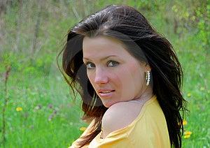 The Beautiful Girl Walks Royalty Free Stock Photo - Image: 14170665