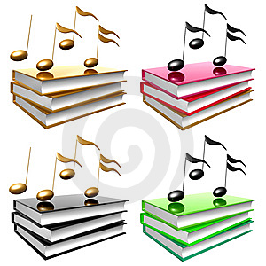 Learn Music And Song By Books Icon Symbol Royalty Free Stock Images - Image: 14171279