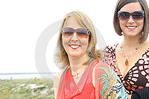 Gorgeous Girls With Glasses At The Beach Royalty Free Stock Photo - Image: 14173085