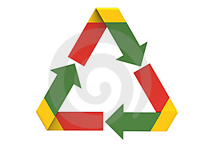 Recycling Symbol Royalty Free Stock Photos - Image: 14173198