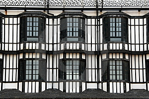 Windows Of A British Style Building Stock Photography - Image: 14173792