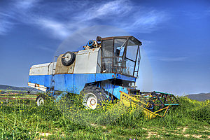 Combine Harvester HDR Stock Photography - Image: 14174022