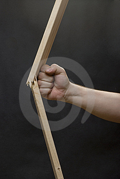 Fist Braking The Plank Stock Photo - Image: 14174280