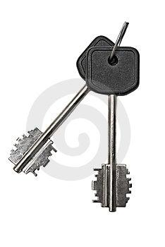 Two Silver Keys Stock Photo - Image: 14175930