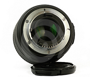 35mm Prime Dslr Lens Isolated Rear View Stock Photos - Image: 14176603