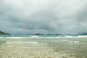 Scenic Stormy Water Royalty Free Stock Image - Image: 14180156