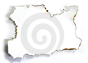 The Scorched Paper Royalty Free Stock Photo - Image: 14180295
