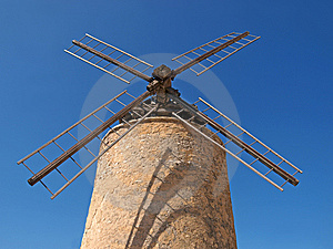 Windmill In Provence Royalty Free Stock Image - Image: 14186866