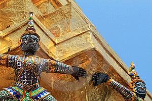 Demons, Wat Phra Kaeo, Bangkok, Thailand Royalty Free Stock Photography - Image: 14187387