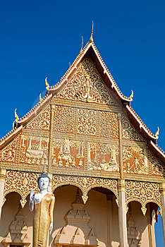 Temple At Vientiane Royalty Free Stock Photography - Image: 14188497
