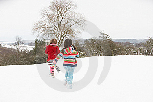 Group Of Children Having Fun In Snow Stock Photography - Image: 14188652