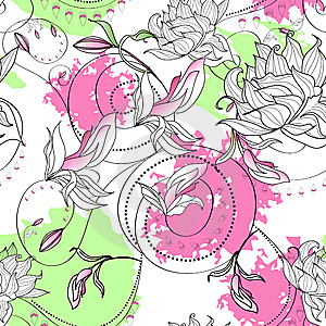 Seamless Wallpaper Royalty Free Stock Image - Image: 14188726
