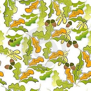 Autumn Seamless Wallpaper Royalty Free Stock Photo - Image: 14188775