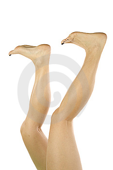 Womans Legs Funny Position Royalty Free Stock Photo - Image: 14189575