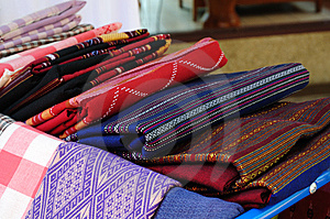 Native Thai Fabric Royalty Free Stock Photography - Image: 14191597
