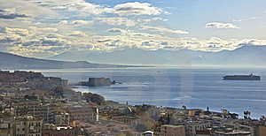 Panorama Of Naples Stock Image - Image: 14191891