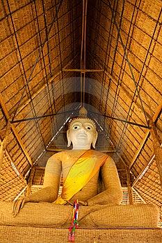 Principle Buddha Image Weave With Bamboo Stock Photo - Image: 14192770