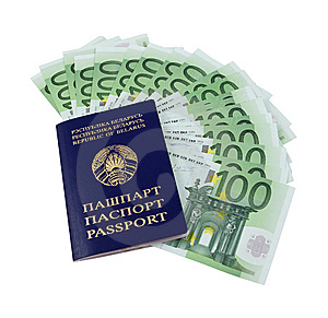 Belarusian Passport And Money Stock Photography - Image: 14192812