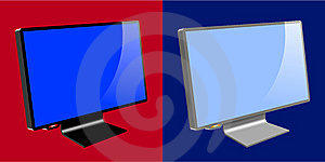 LCD / TFT Monitors Stock Image - Image: 14193181
