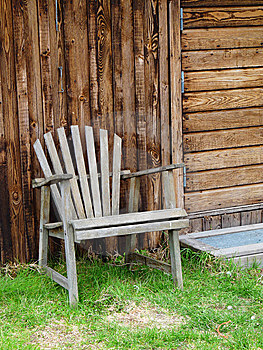 Old Garden Chair Royalty Free Stock Images - Image: 14194319