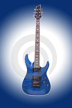 Electric Guitar Isolated On Gradient Background Stock Photography - Image: 14194492