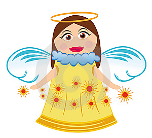Angel With Stars Stock Images - Image: 14194614