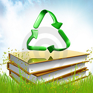 Golden Books About Recycle Royalty Free Stock Photos - Image: 14196358