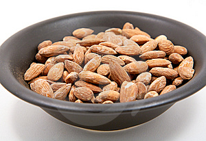 A Bowl Of Salted Almonds Royalty Free Stock Image - Image: 14196856