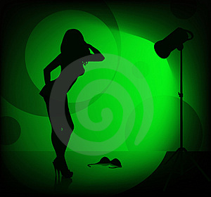 Female Silhouette Stock Images - Image: 1427174