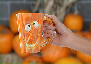 Pumpkin Mug Stock Photos - Image: 1428063