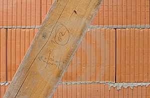 Hollow Brick With Board Royalty Free Stock Images - Image: 14202939