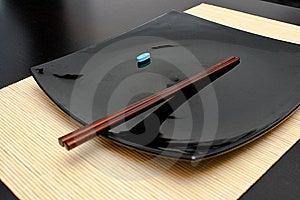 Jantar Azul Do Comprimido Foto de Stock - Imagem: 14203390