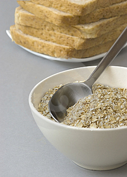 Bowl With Oats, Isolated Stock Images - Image: 14203694