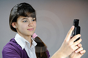 Teenager Making Photos With Mobile Phone Stock Image - Image: 14205111