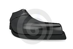 Man's Black Shoe Royalty Free Stock Image - Image: 14206956