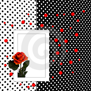Congratulation Card With Rose Polka Dot Background Royalty Free Stock Image - Image: 14207256
